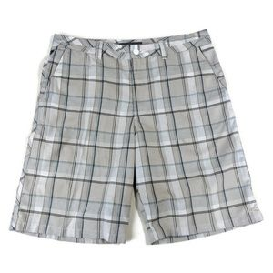 Oneill Shorts Mens 34 Gray Blue Check Casual